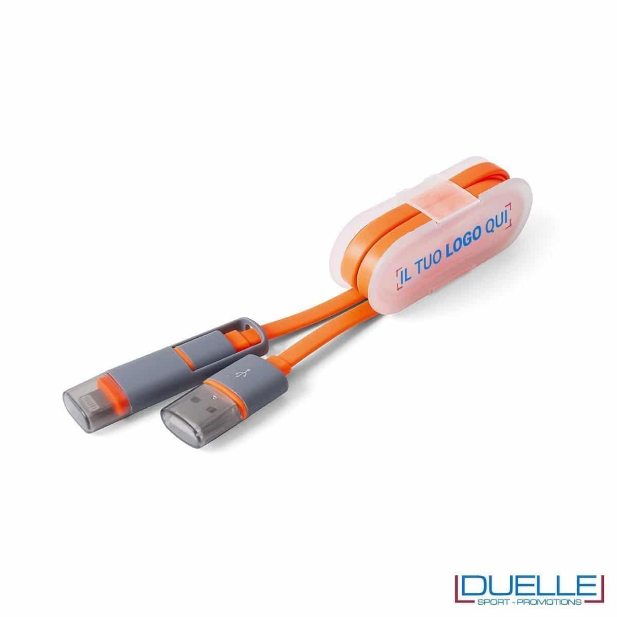 cavetto adattatore per smartphone personalizzato, gadget per smartphone personalizzabile in colore arancione