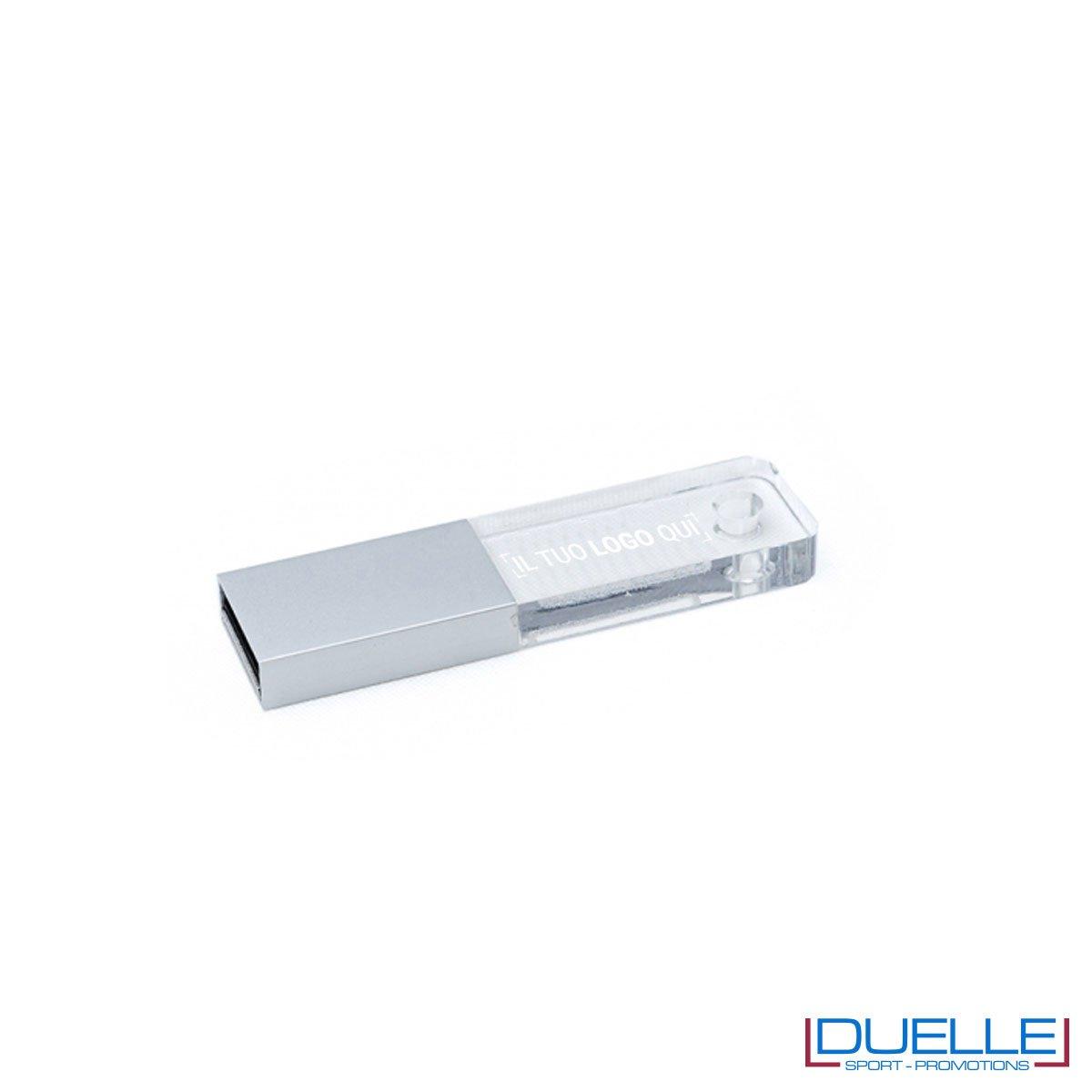 Pennetta USB personalizzata trasparente