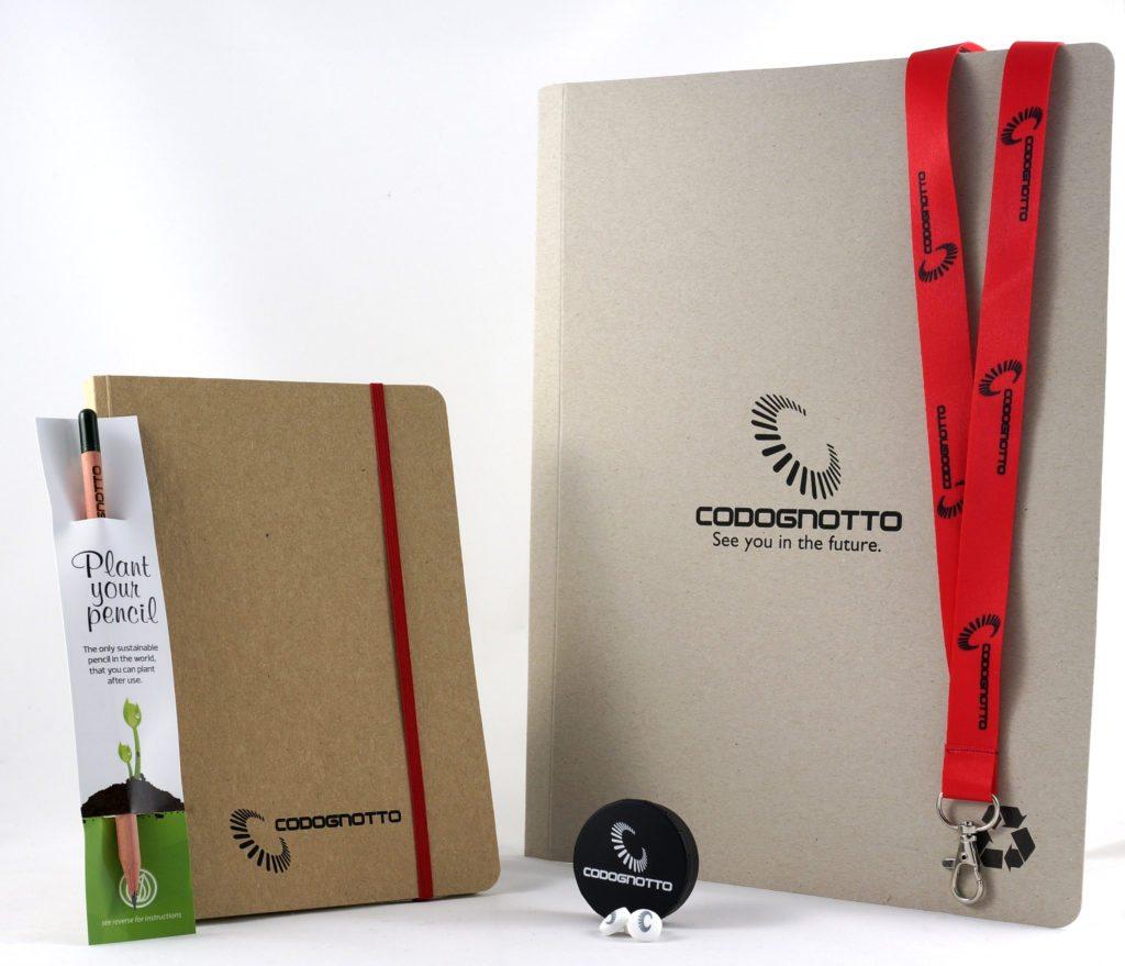 articoli promozionali ecologici per codognotto spa, gadget ecologici personalizzati per convegno codognotto s.p.a.