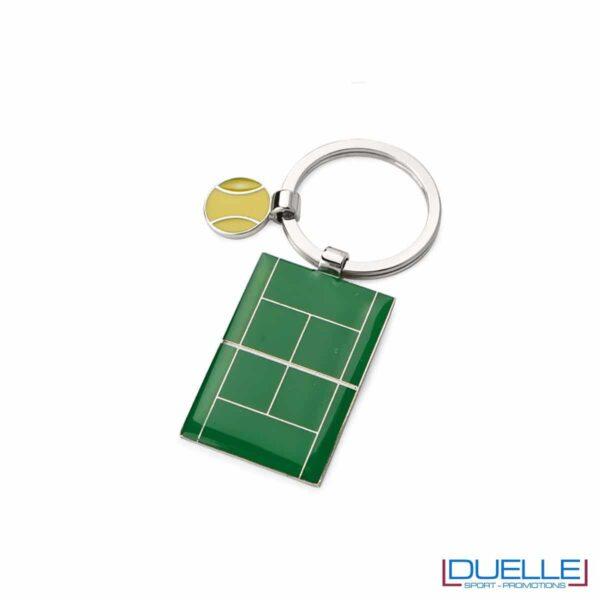 portachiavi personalizzato con campo da tennis, gadget sportivi personalizzati