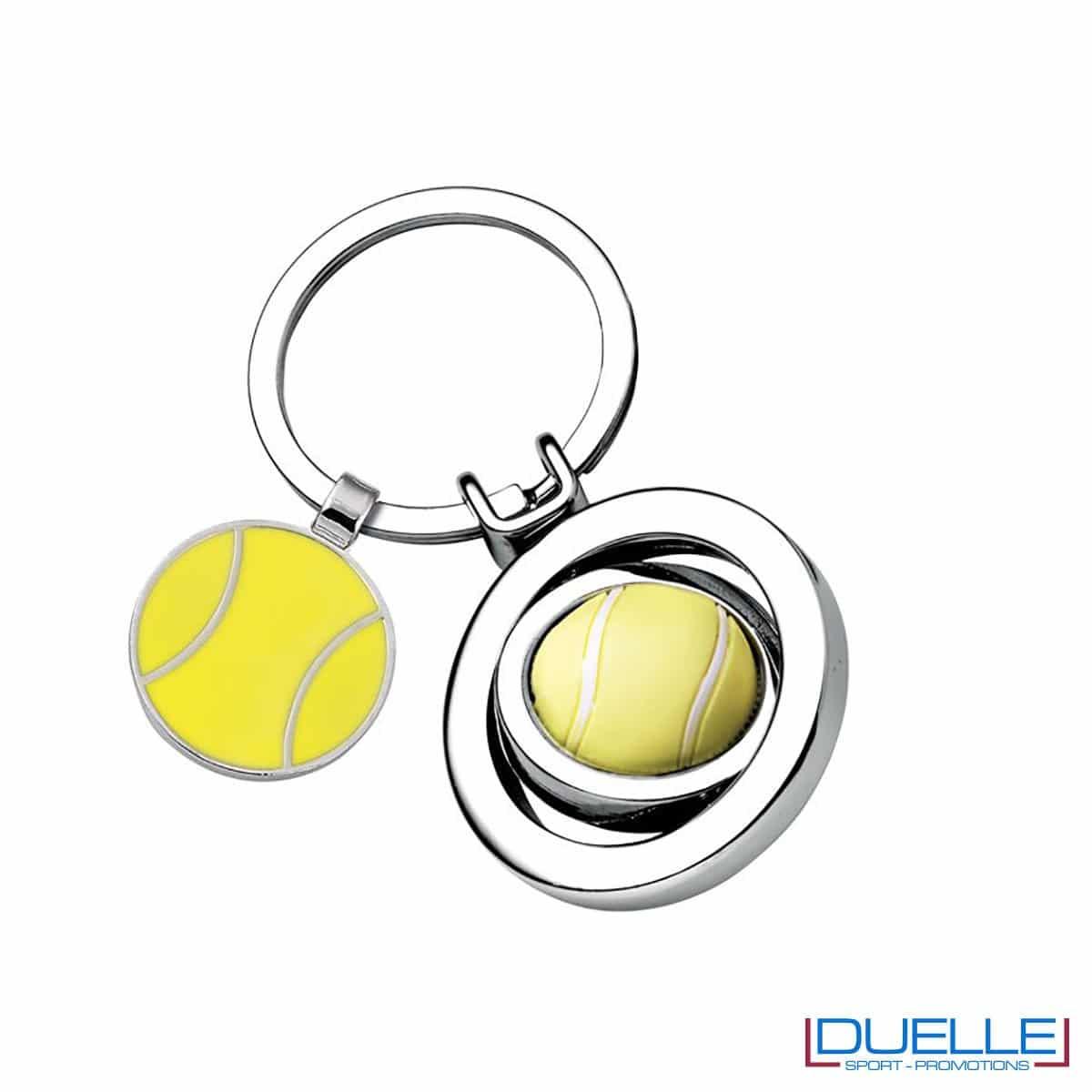 portachiavi personalizzato tennis in metallo