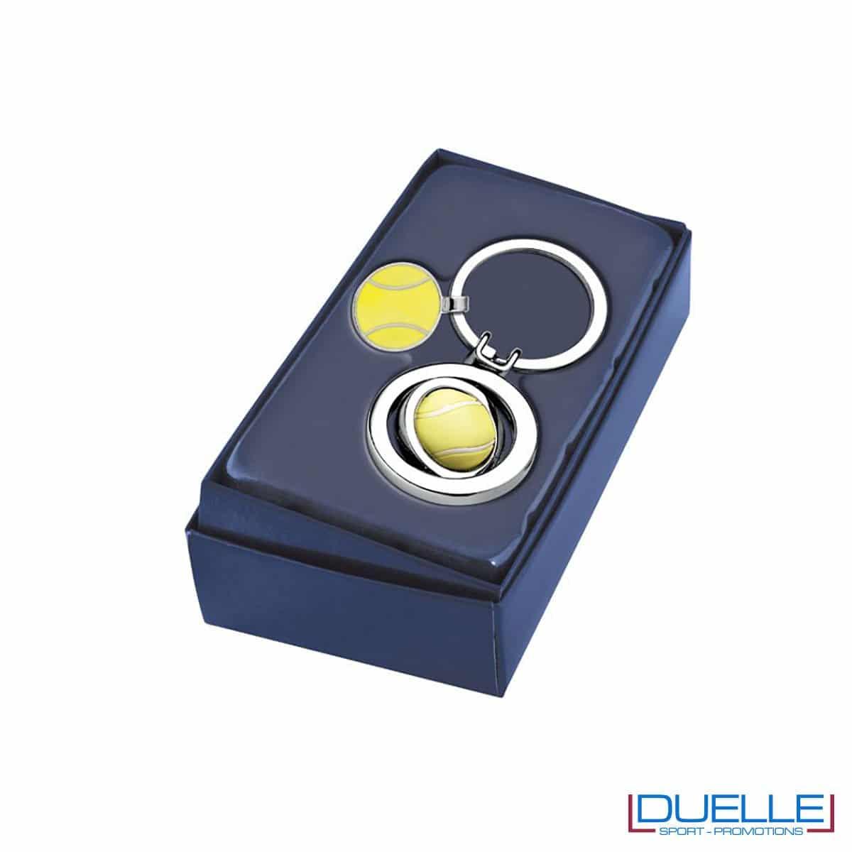 portachiavi personalizzato tennis in confezione
