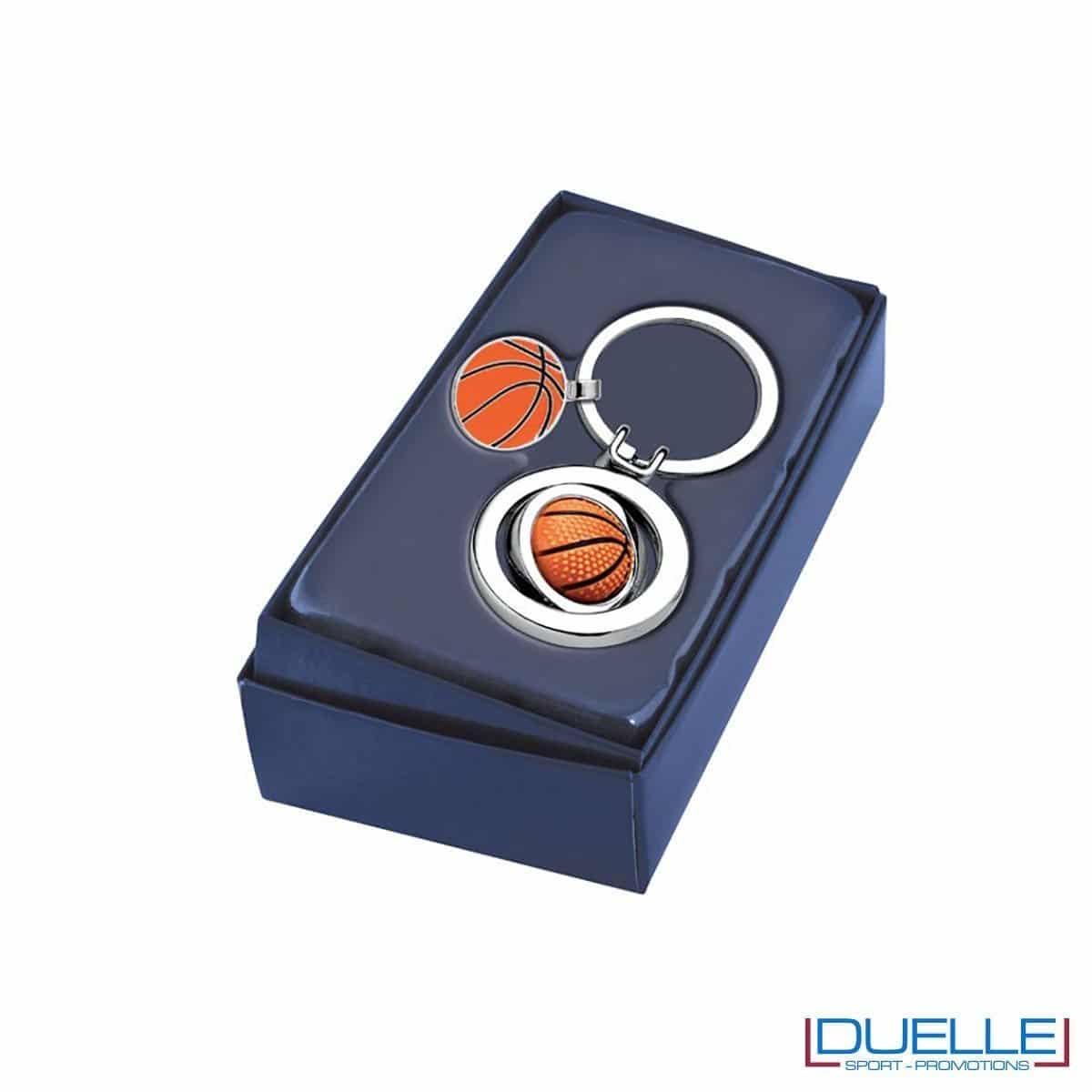 Portachiavi personalizzato pallone da Basket in confezione