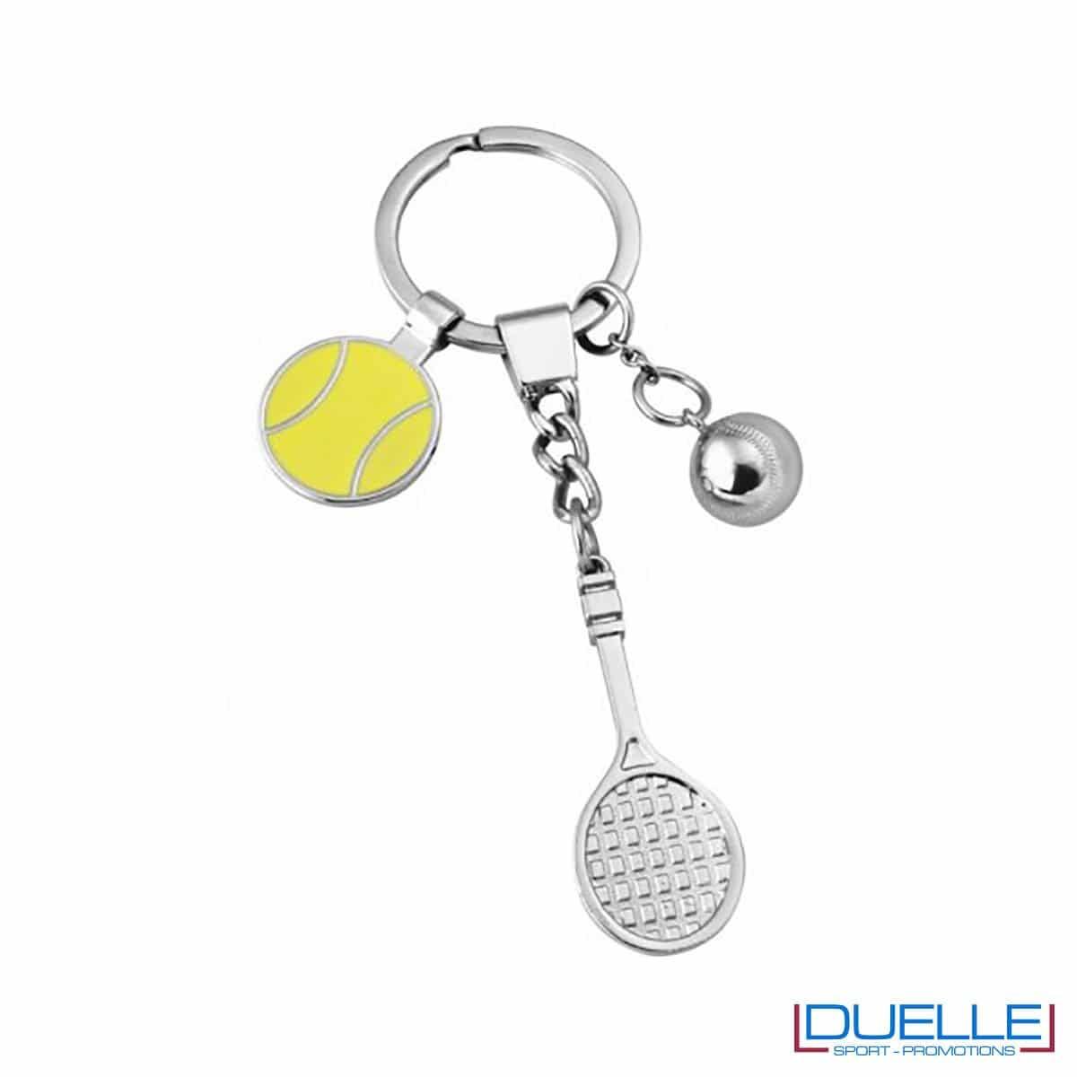 Elegante portachiavi tennis personalizzato con incisione