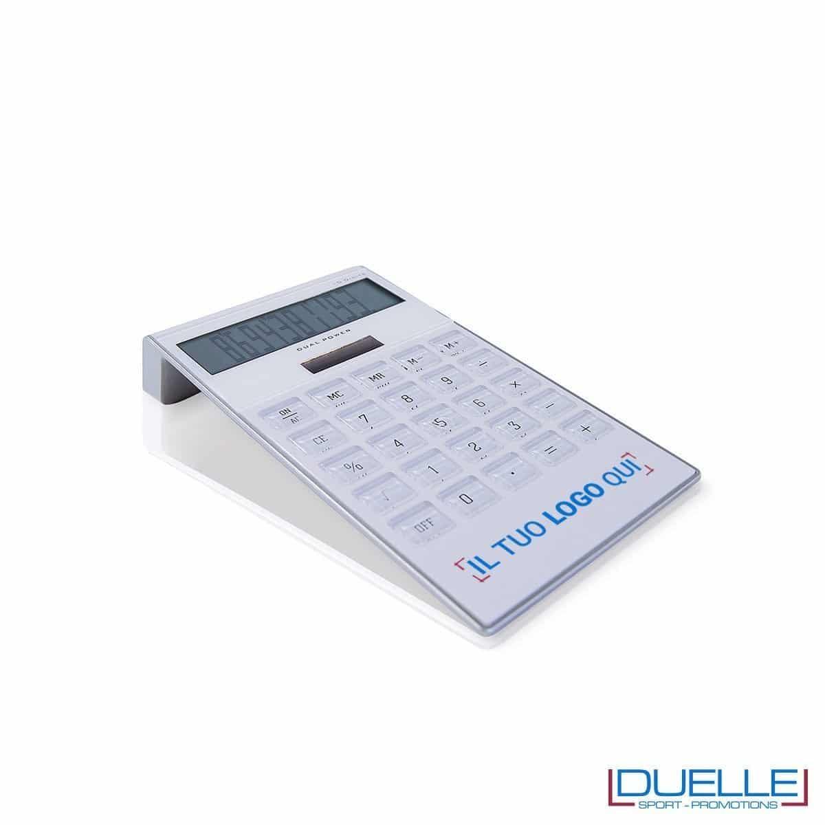 Elegante calcolatrice personalizzata colore bianco