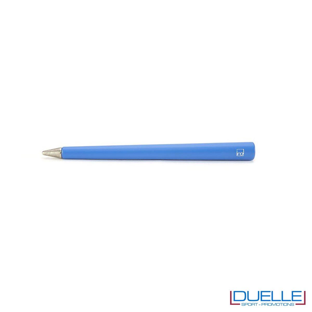 matita inifita personalizzata primina in colore blu, regali azinedali personalizzabili blu