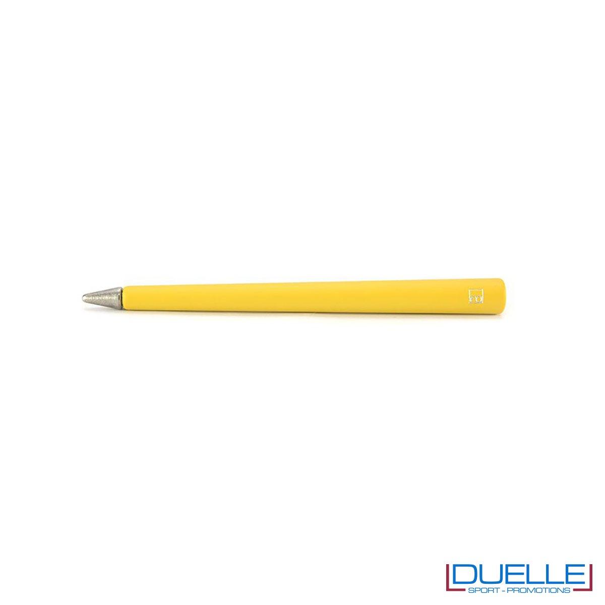 matita infinita personalizzata primina in colore arancione, regali aziendali personalizzabili arancioni