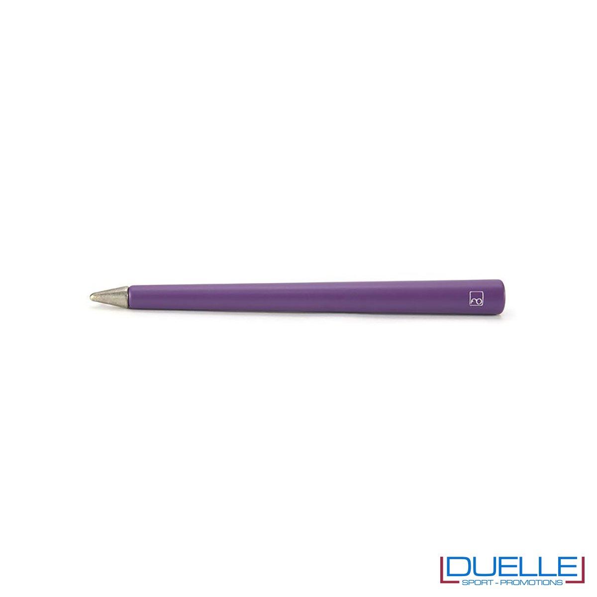 matita infinita personalizzata primina in colore viola, regali aziendali personalizzabili viola