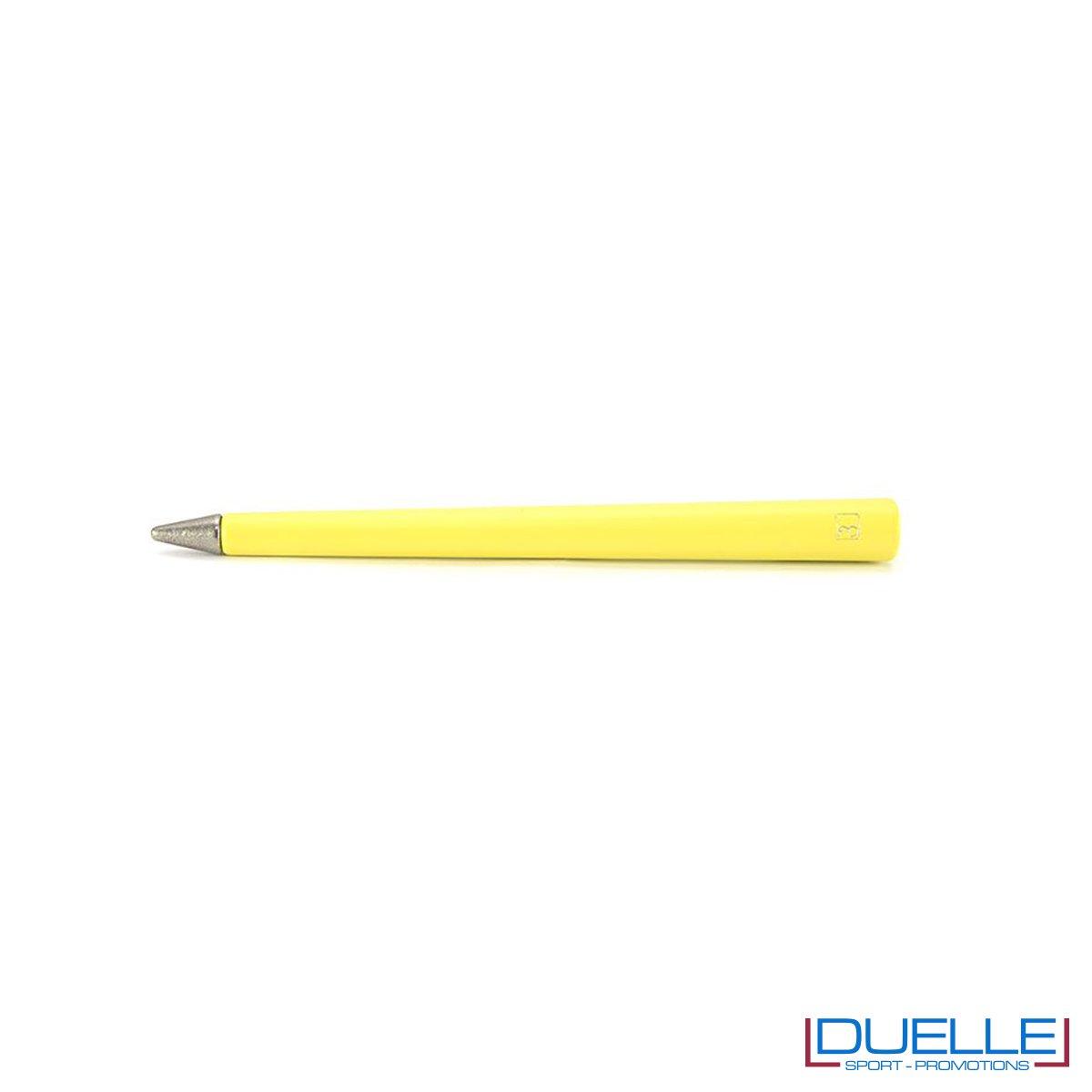 matita infinita personalizzata primina in colore giallo, regali aziendali personalizzabili gialli