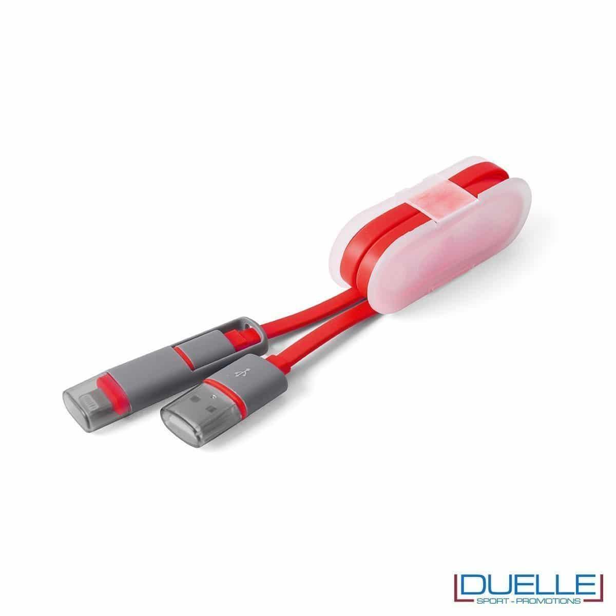 cavetto adattatore per smartphone personalizzato, gadget per smartphone personalizzabile in colore rosso