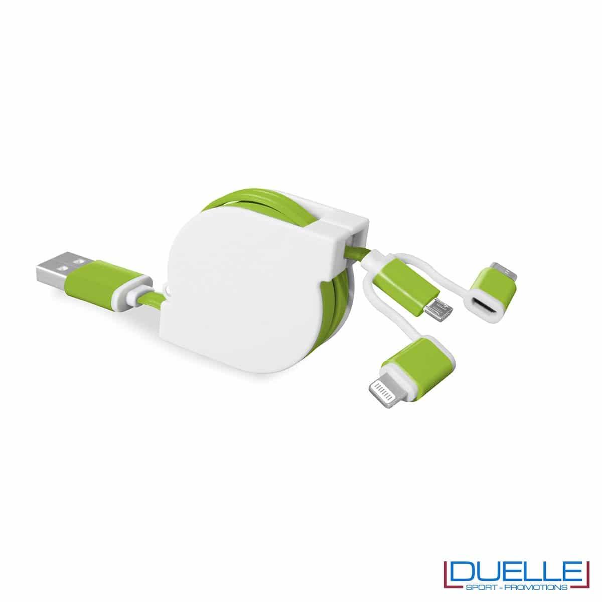 Cavetto adattatore 3 in 1 personalizzabile verde