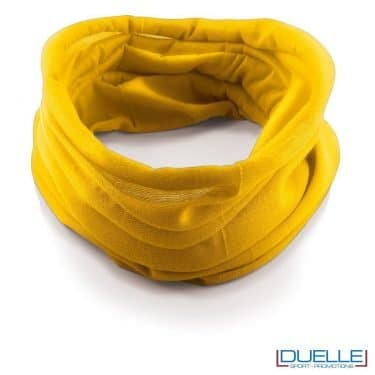 Scaldacollo personalizzato colore giallo