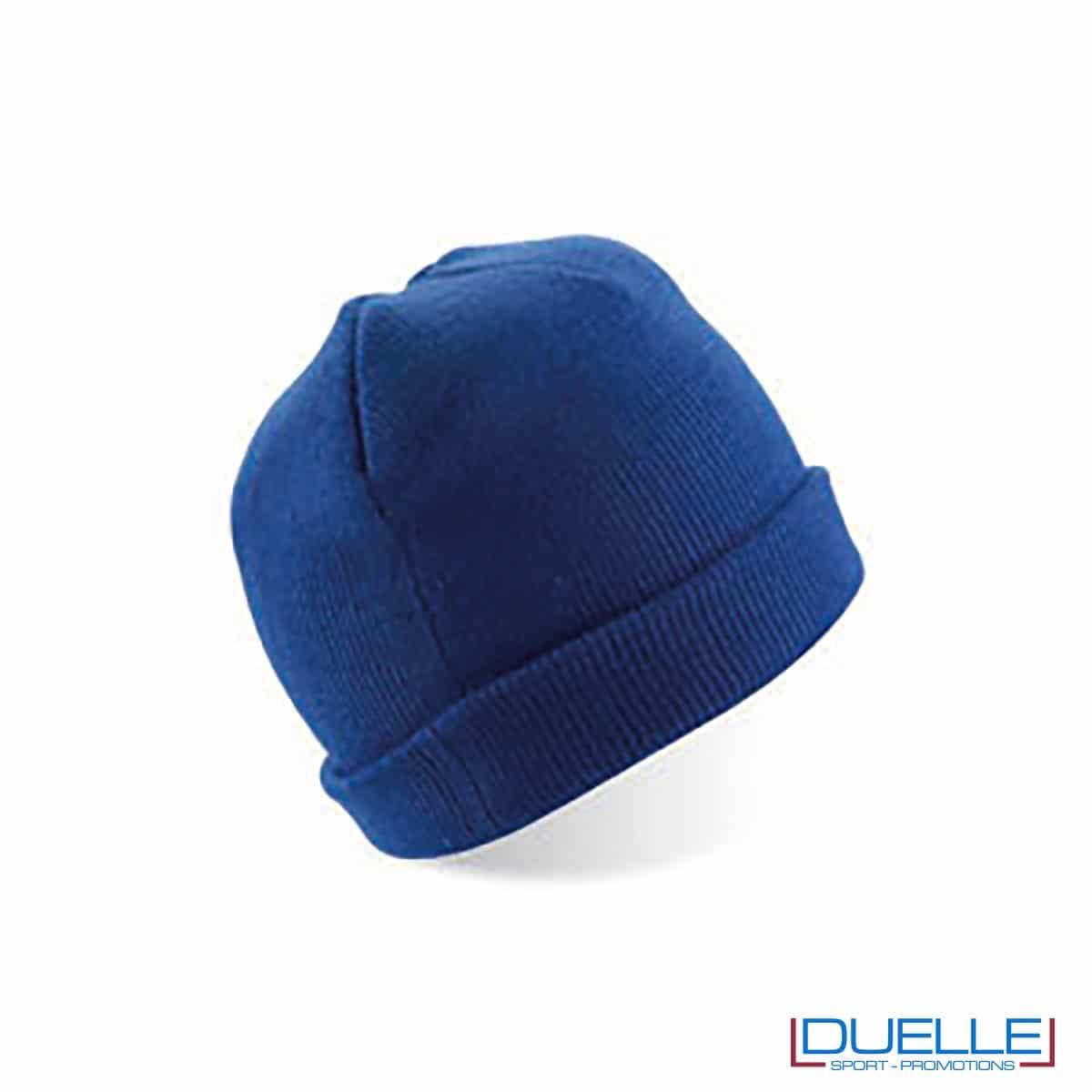 cappello personalizzato inverno in tessuto pesante colore blu royal