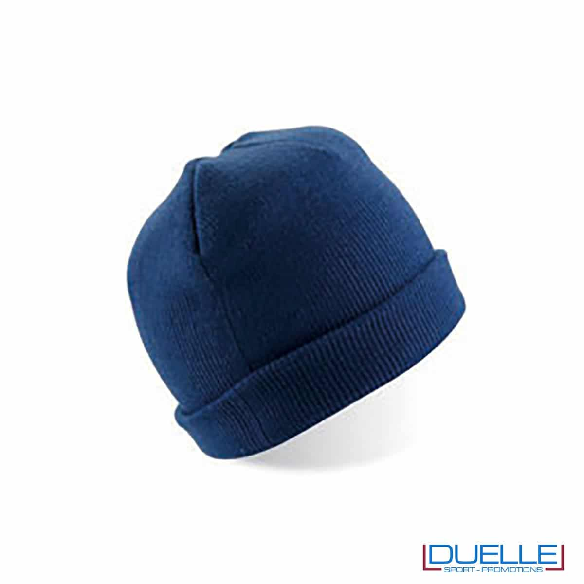 cappello personalizzato inverno in tessuto pesante colore blu navy
