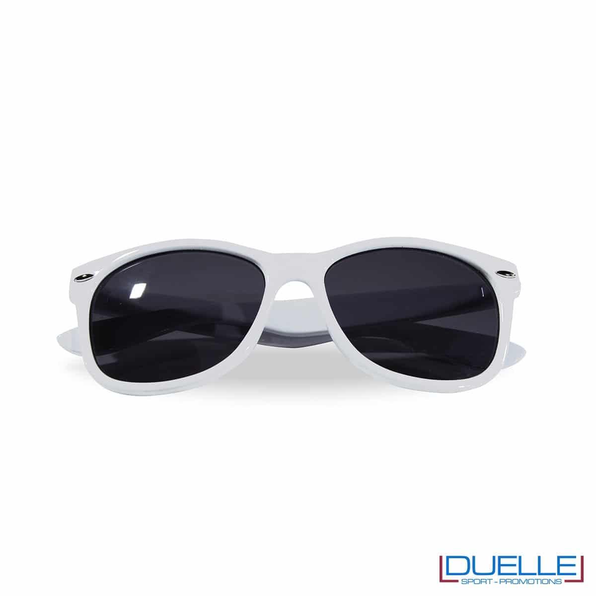 occhiali da sole personalizzati colore bianco, gadget estate personalizzati