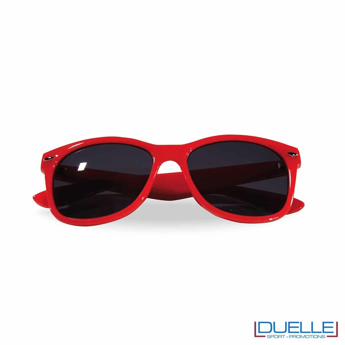 occhiali da sole personalizzati colore rosso, gadget estate personalizzati
