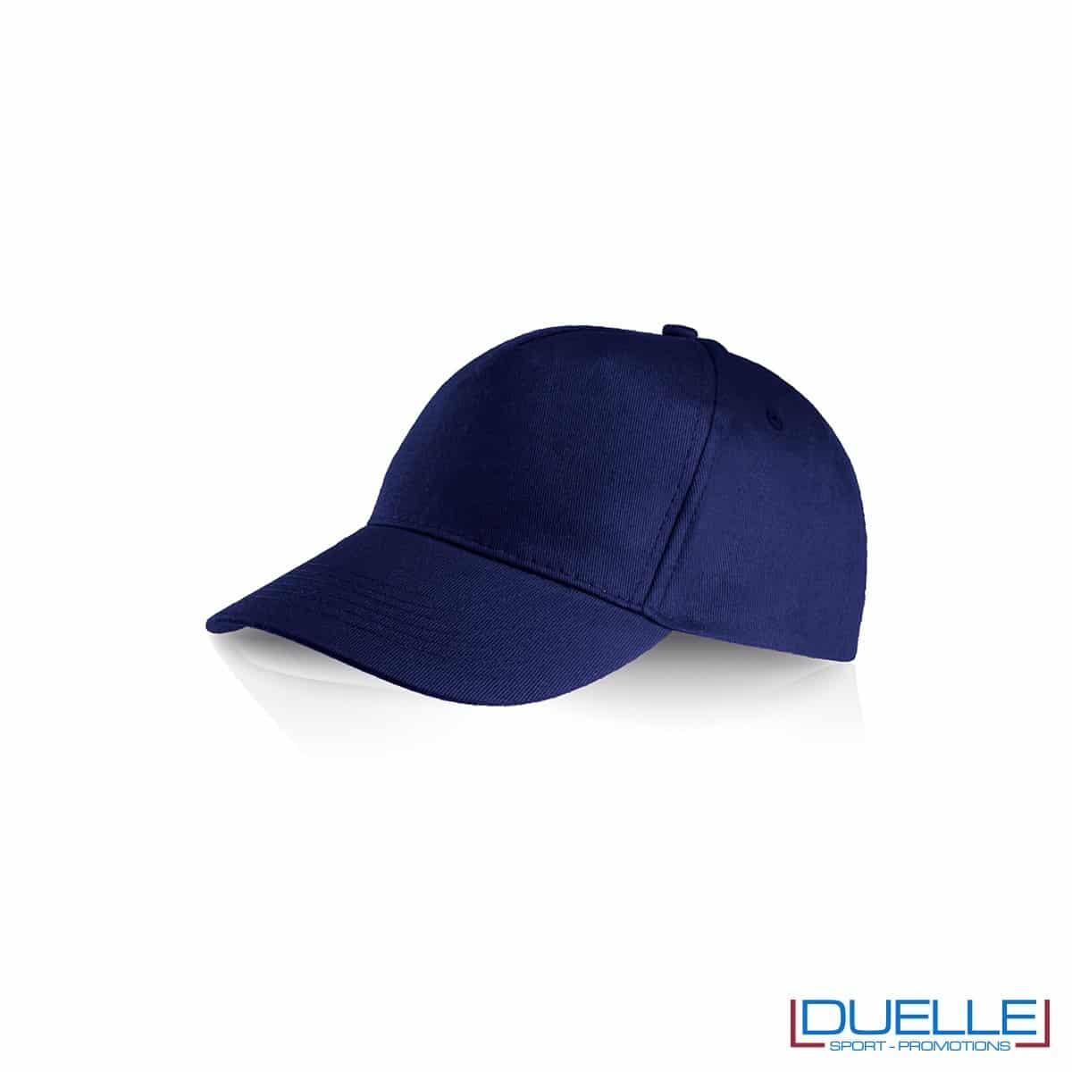 Cappellino personalizzato cotone blu navy, cappellini promozionali baseball, cappellini baseball personalizzati blu navy