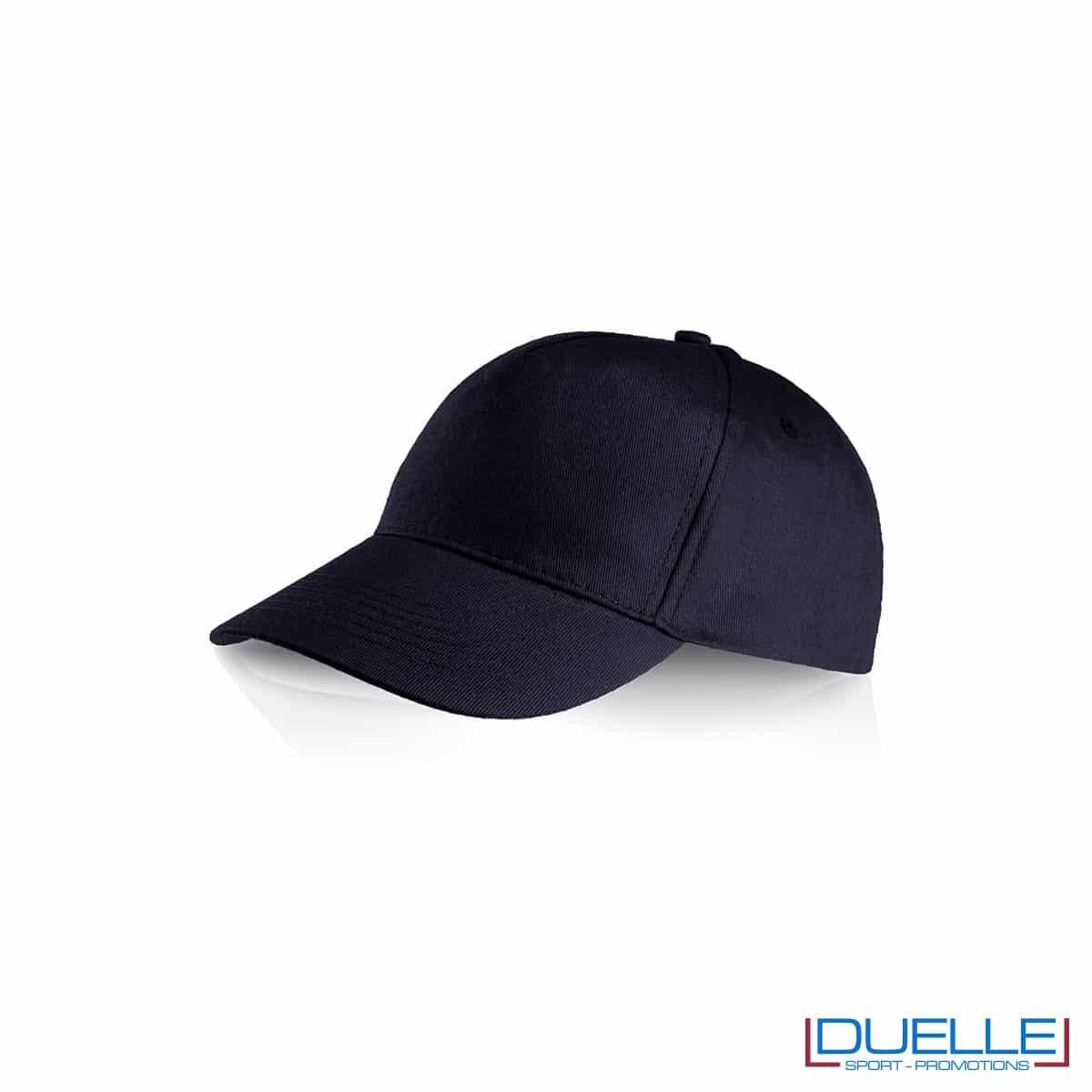 Cappellino personalizzato cotone nero, cappellini promozionali baseball, cappellini baseball personalizzati nero