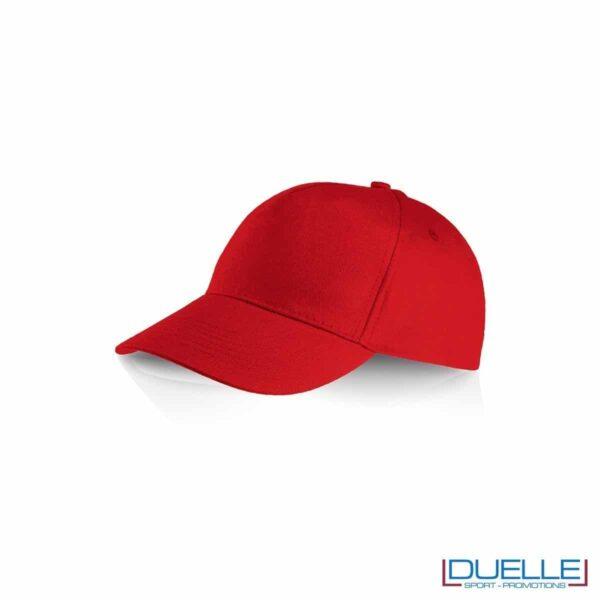 Cappellino personalizzato cotone 100% baseball personalizzabile con stampe a colori nella , rosso