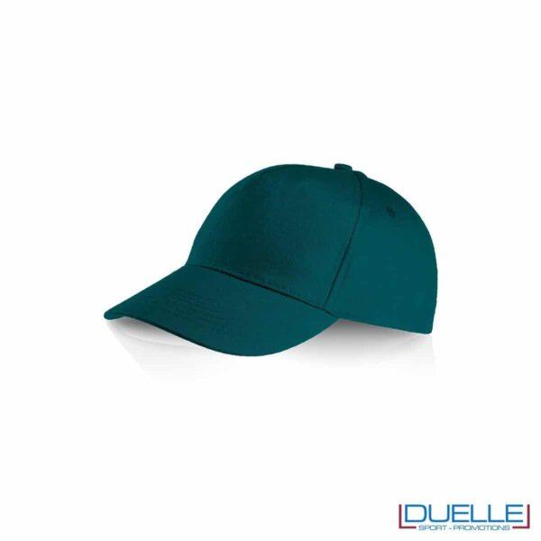 Cappellino personalizzato cotone verde scuro, cappellini promozionali baseball, cappellini baseball personalizzati verde scuro