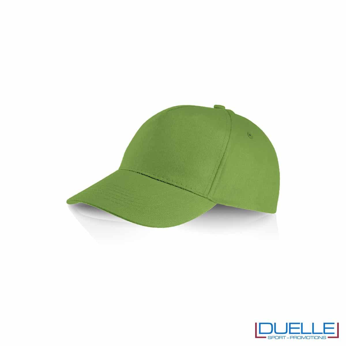 Cappellino personalizzato cotone verde, cappellini promozionali baseball, cappellini baseball personalizzati verde