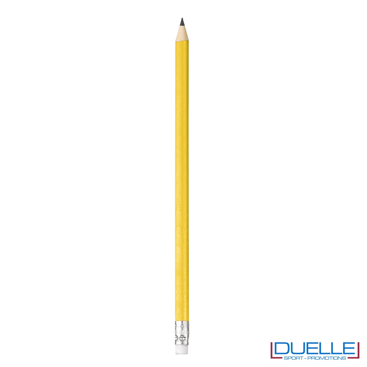 matita personalizzabile legno 100% naturale gialla con gomma incorporata, gadget da scrivania