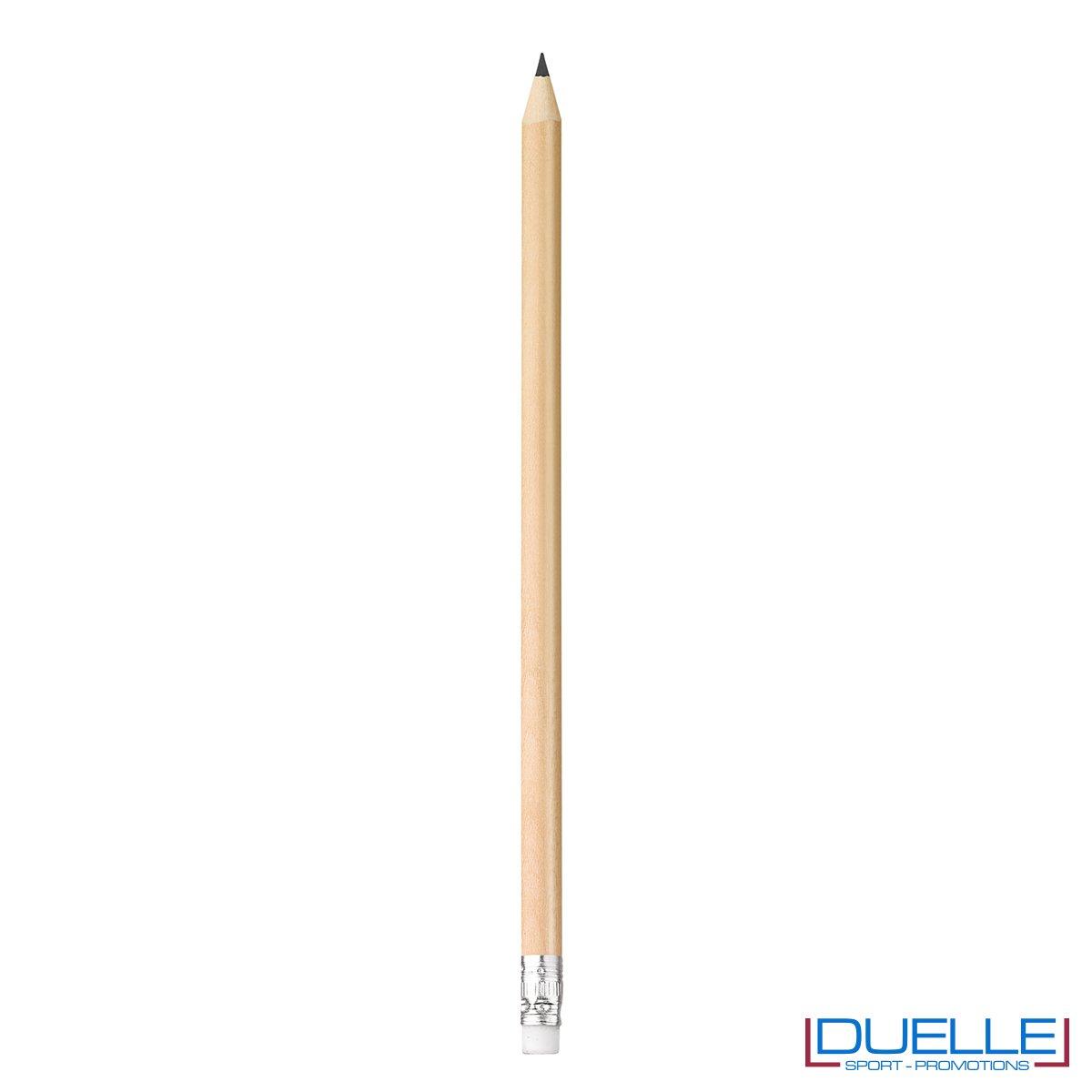 matita personalizzabile legno 100% naturale naturale con gomma incorporata, gadget da scrivania