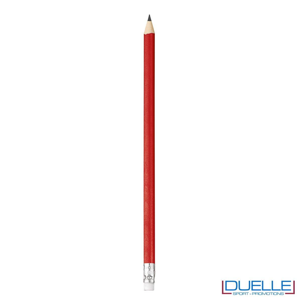 matita personalizzabile legno 100% naturale rossa con gomma incorporata, gadget da scrivania