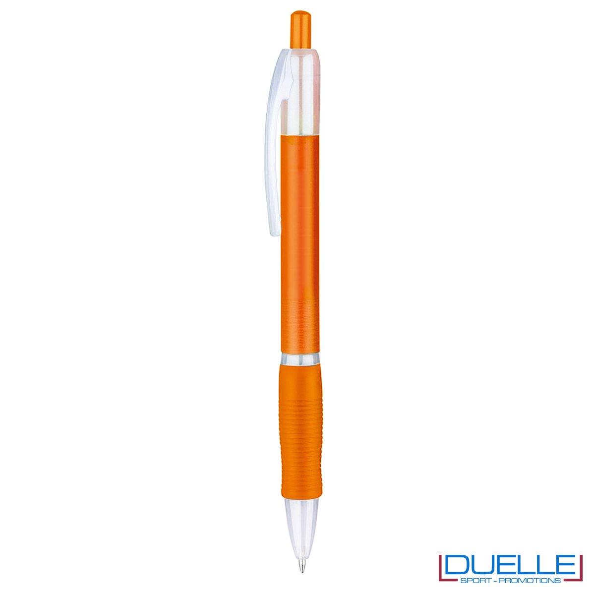 penna personalizzabile economica in colore arancione fusto frost, offerta penne economiche personalizzabili in colore arancione fusto frost