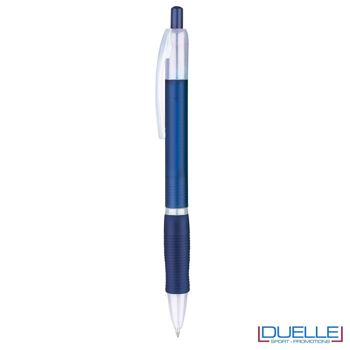 penna personalizzabile economica in colore blu fusto frost, offerta penne economiche personalizzabili in colore blu fusto frost
