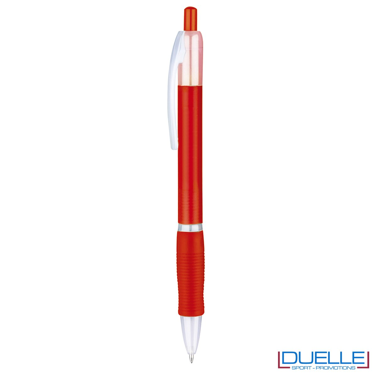 penna personalizzabile economica in colore rosso fusto frost, offerta penne economiche personalizzabili in colore rosso fusto frost
