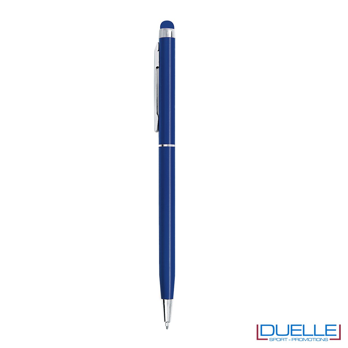 penna touch screen personalizzate in metallo blu, penne touch personalizzate blu