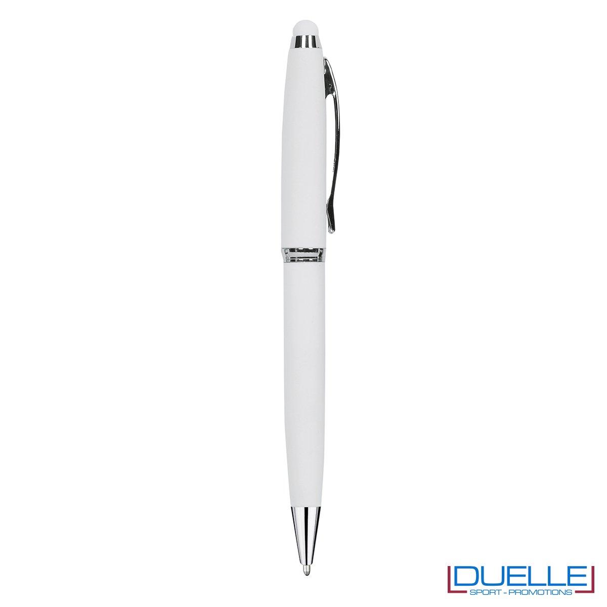 Penna personalizzata accessorio touch colore bianco