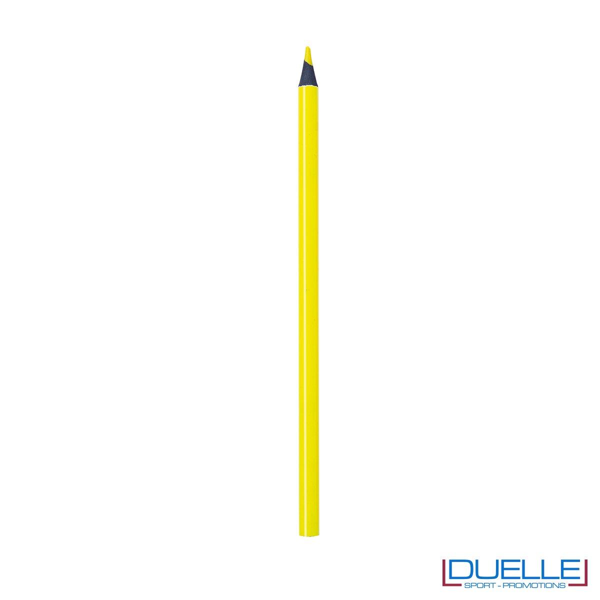 matita personalizzabile gialla con mina evidenziatore, gadget legno, gadget ufficio