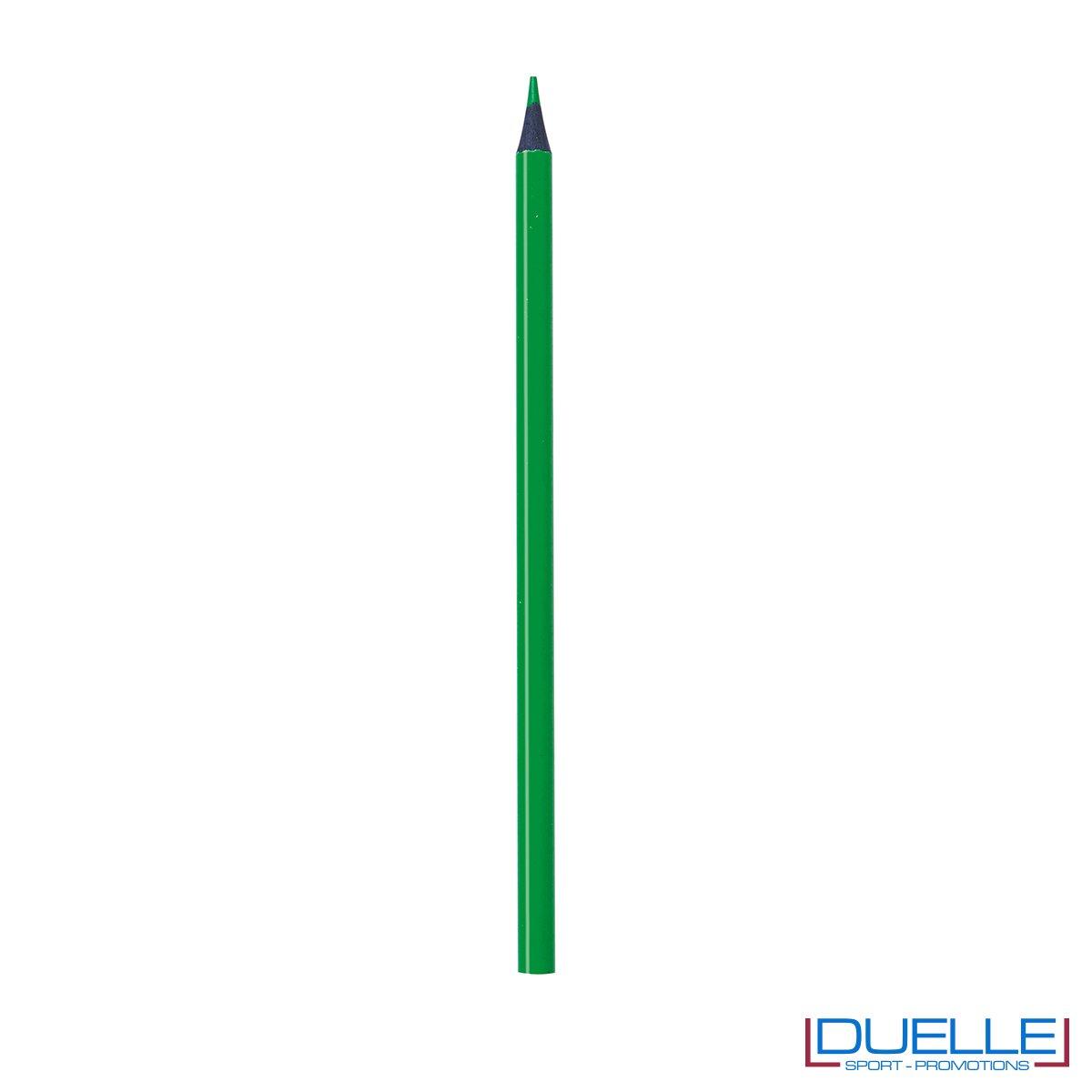 matita personalizzabile verde con mina evidenziatore, gadget legno, gadget ufficio