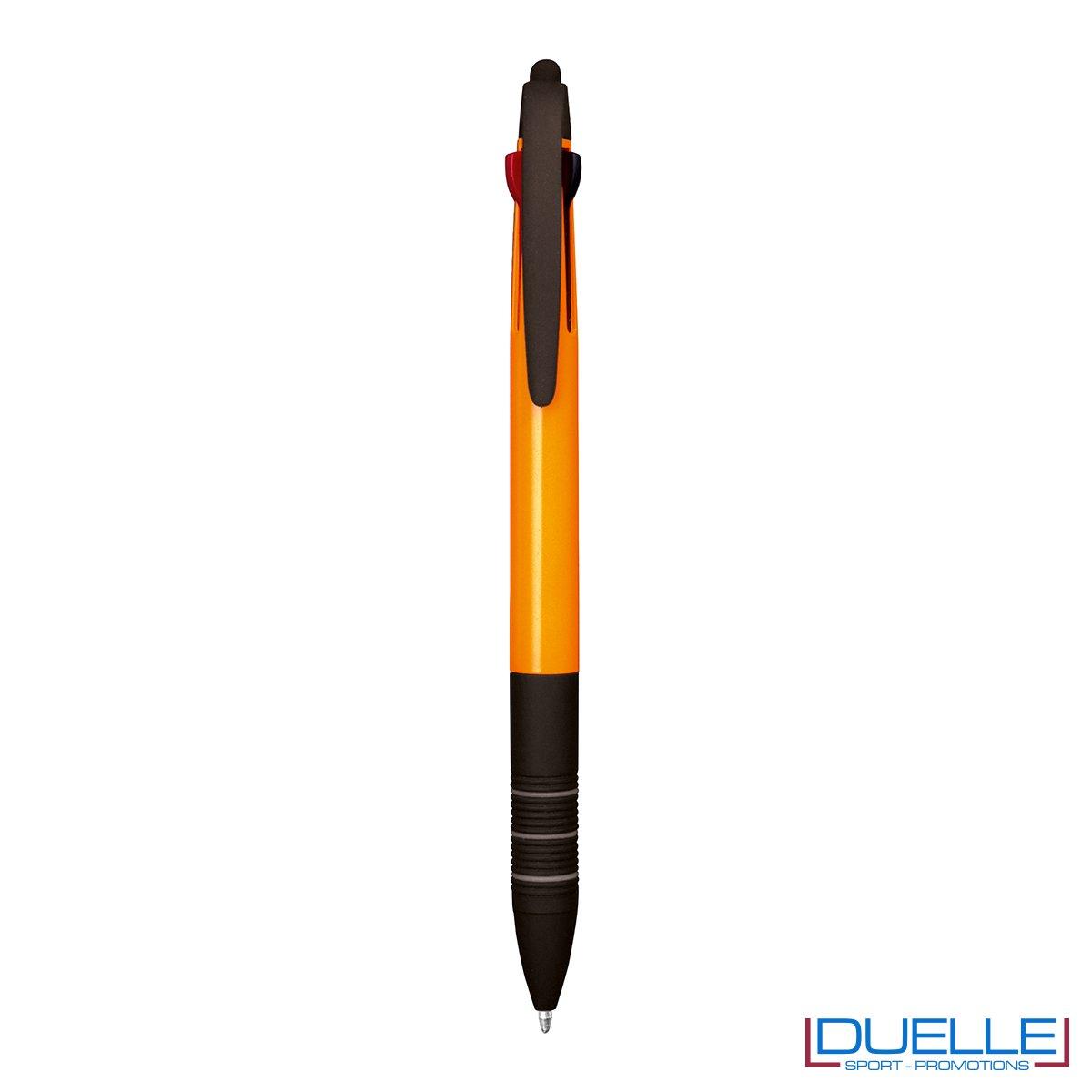 Penna personalizzata fluo touch screen colore arancione