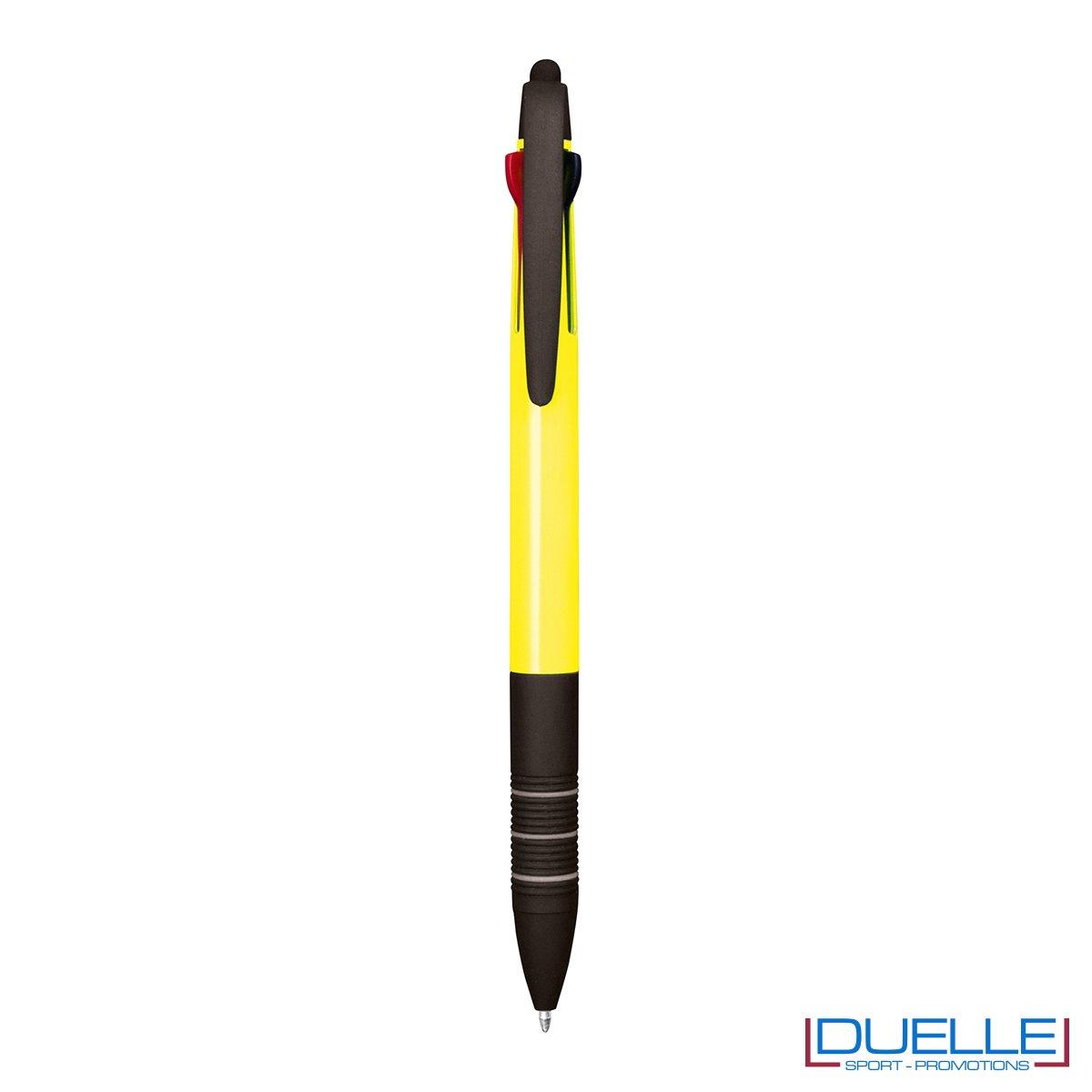 Penna personalizzata fluo touch screen colore giallo