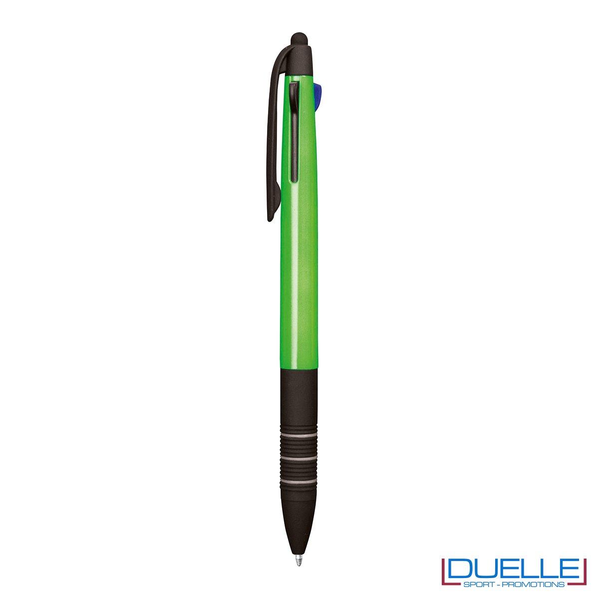Penna personalizzata fluo touch screen colore verde