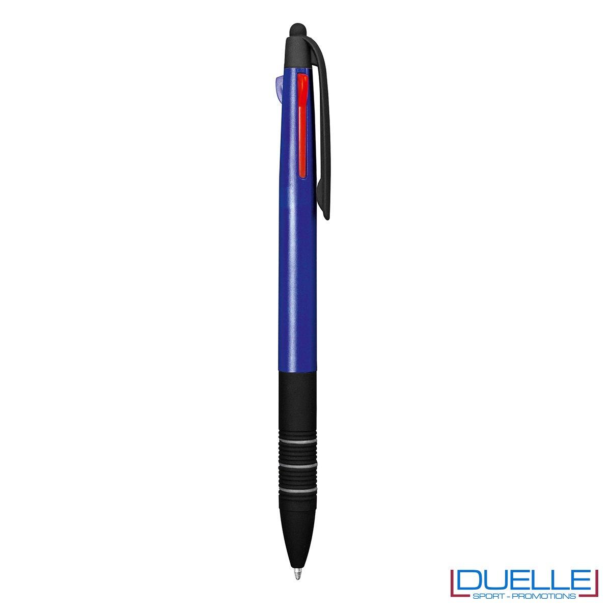 Penna personalizzata con touch 3 in 1 colore blu navy
