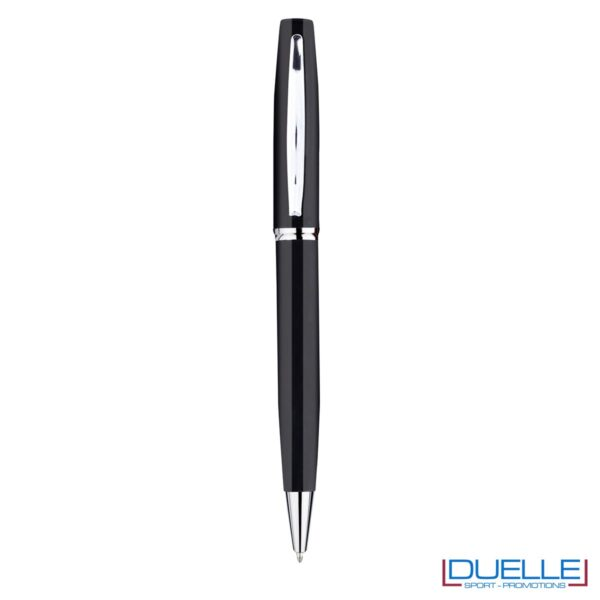 Penna a sfera in metallo personalizzata con incisione colore nero