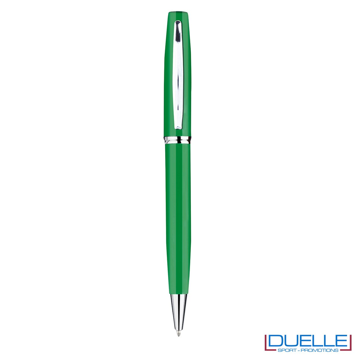 Penna a sfera in metallo personalizzata con incisione colore verde bandiera