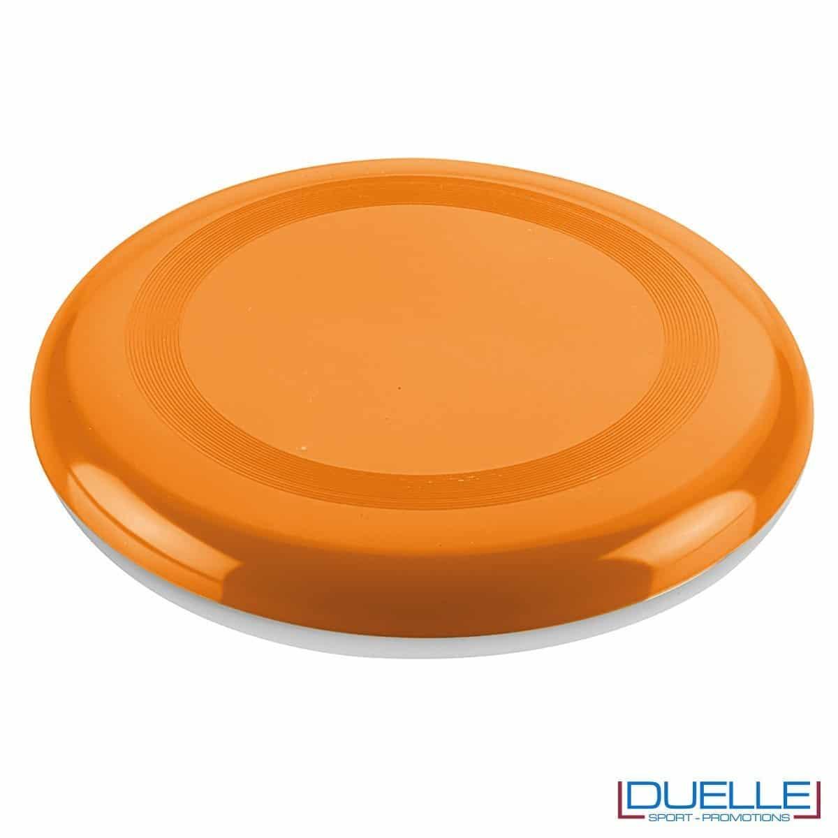 Frisbee personalizzato arancione, gadget mare promozionali, gadget spiaggia personalizzati