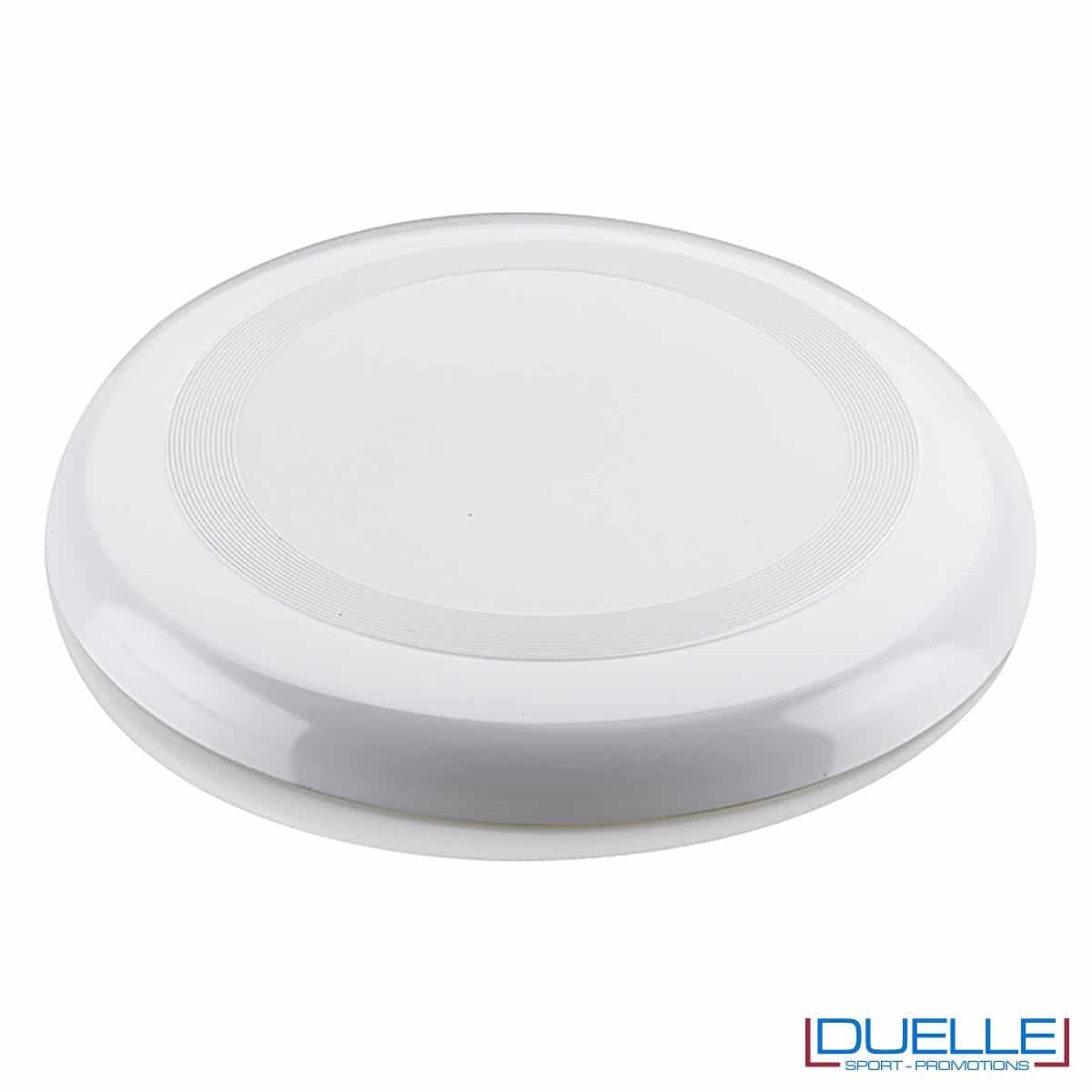 Frisbee personalizzato bianco, gadget mare promozionali, gadget spiaggia personalizzati