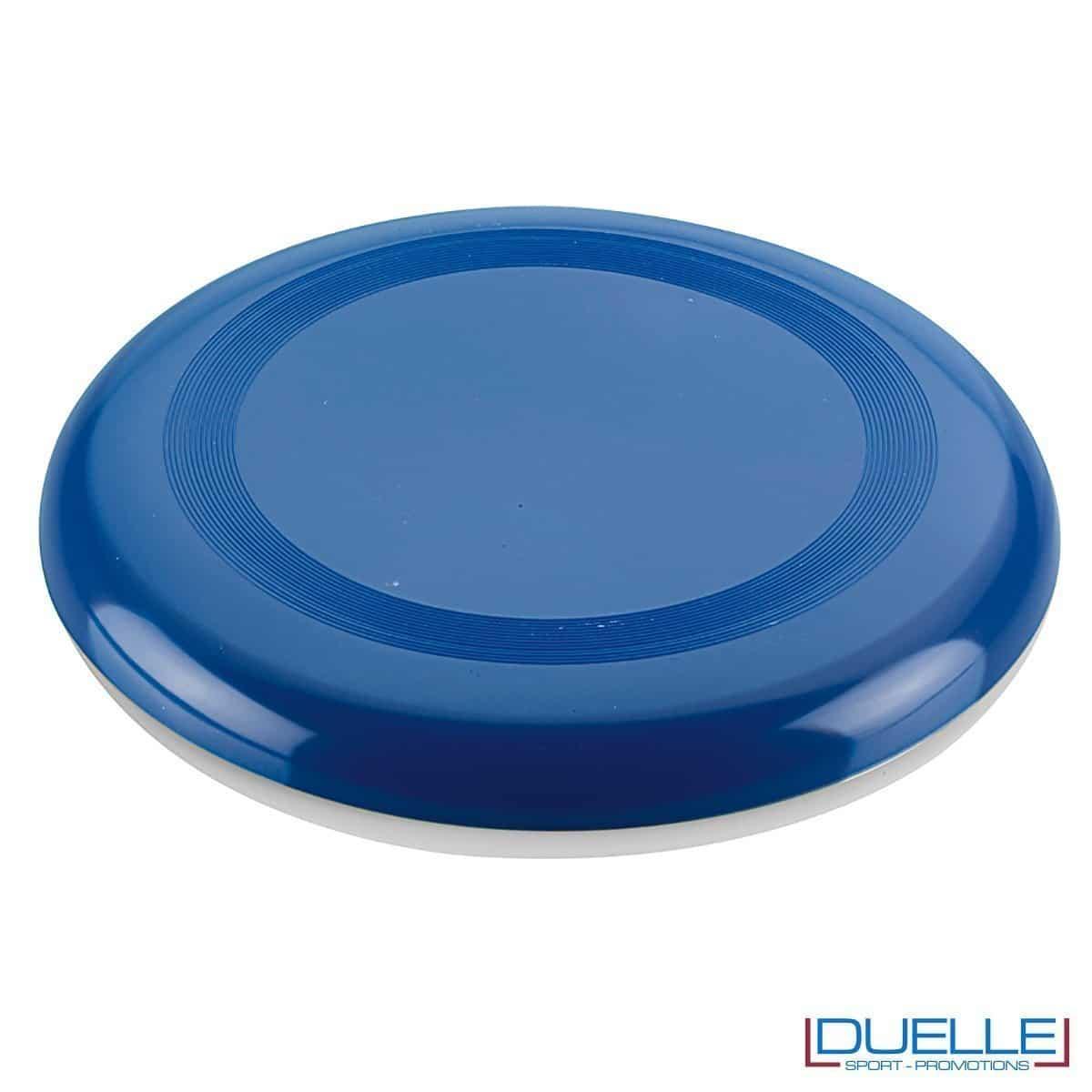 Frisbee personalizzato blu, gadget mare promozionali, gadget spiaggia personalizzati