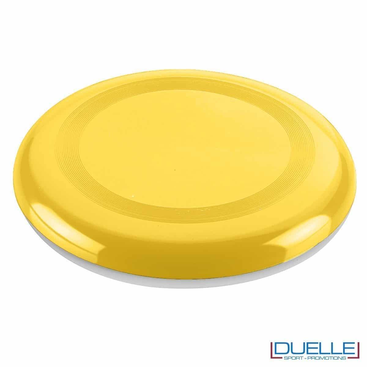 Frisbee personalizzato giallo, gadget mare promozionali, gadget spiaggia personalizzati