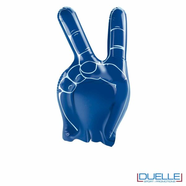 mano gonfiabile personalizzata misura extra-large blu royal, gadget Europei 2016, gadget tifo blu royal