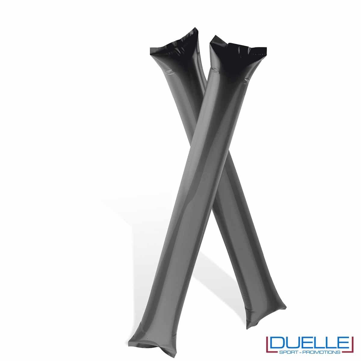 bastoni gonfiabili personalizzati nero per tifoserie l, gadget Europei 2016, gadget feste
