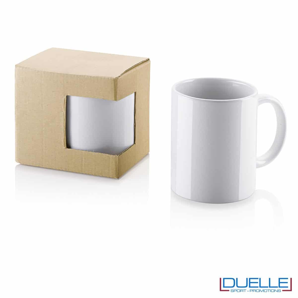 Tazza in ceramica personalizzata promozionale con confezione in cartoncino