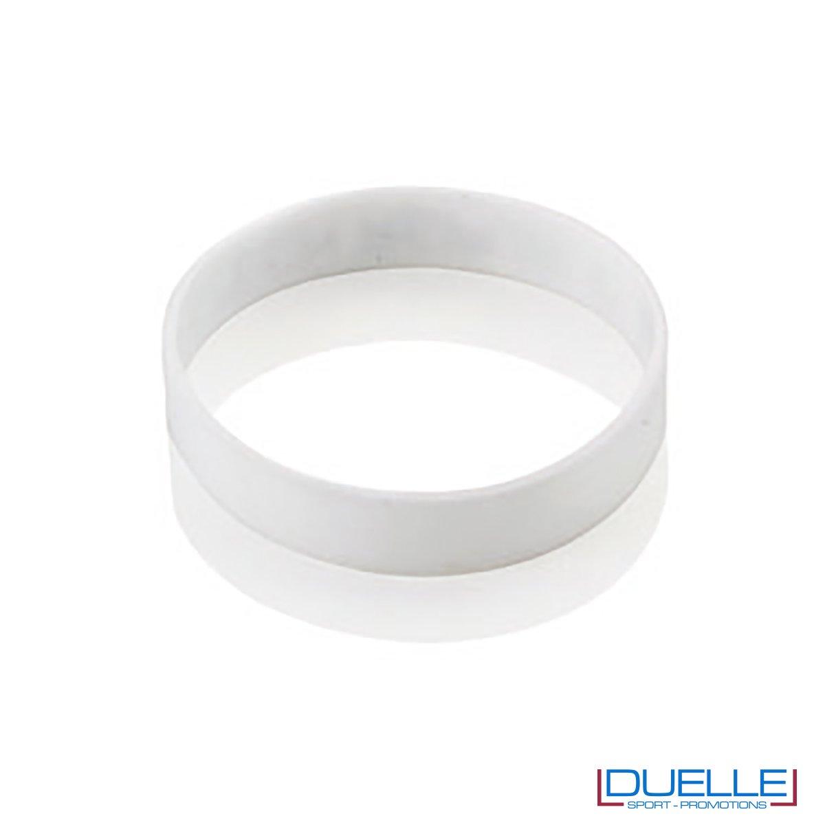 bracciale in silicone personalizzato bianco Europei 2016, gadget estate sport, gadget Europei 2016, gadget tifo