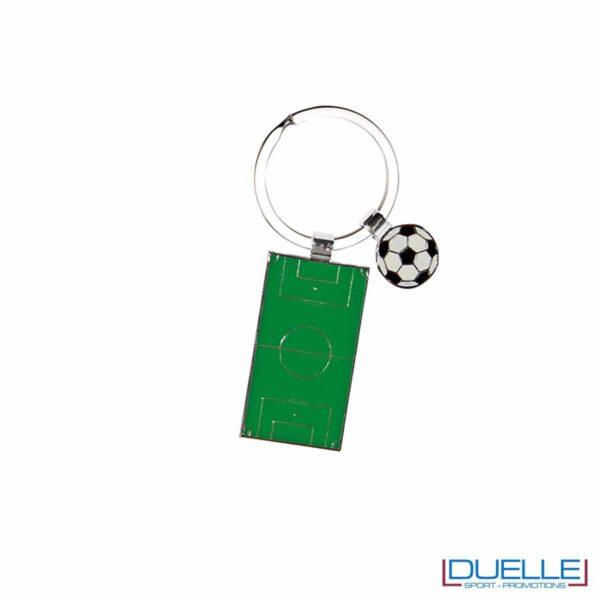 Portachiavi personalizzato con campo da calcio, gadget Europei 2016, gadget tifo